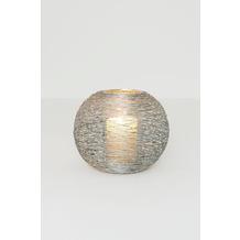 Holländer Windlicht 1-flg. NOMADE GRANDE Eisen silber Glas klar