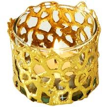 Holländer Windlicht 1-flg. UTOPISTICO KLEIN Metall gold - Glas klar