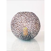 Holländer Windlicht UTOPISTICO KUGEL Metall silber Glas