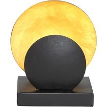 Holländer Windlicht VOLTARE KLEIN Metall schwarz-gold