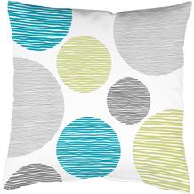 Home Wohnideen Kissenhülle Digitaldruck Borden Blau-grün 40 x 40 cm
