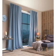 Home Wohnideen Kombibandschal, Dekoschal Thermostoff Geärbt Blau 245 x 135 cm