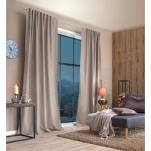 Home Wohnideen Kombibandschal, Dekoschal Thermostoff Geärbt Natur 245 x 135 cm