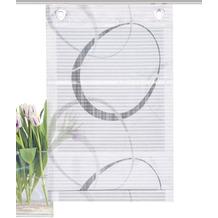 "Home Wohnideen Magnetrollo Querstreifen Digitaldruck ""vitus"" Grau 130 x 100 cm"