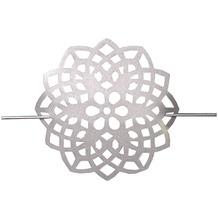 Home Wohnideen Raffhalter Aus Metall - Blume Silber 18 cm