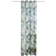 Home Wohnideen Schal Leinenvoile Bedruckt Grün 245 x 140 cm