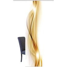 Home Wohnideen Schiebevorhang Dekostoff Digitaldruck Neblana Gold 245 x 60 cm