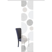"Home Wohnideen Schiebevorhang Digitaldruck Bambus-optik ""borden"" Grau 260 x 60 cm"