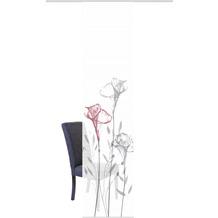 "Home Wohnideen Schiebevorhang Digitaldruck Bambus-optik ""kipala"" Rot 260 x 60 cm"