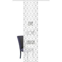 "Home Wohnideen Schiebevorhang Digitaldruck Bambus-optik ""live Love Laugh"" Grau 260 x 60 cm"