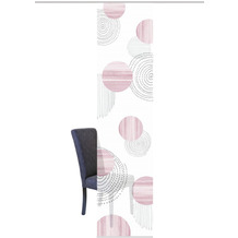 "Home Wohnideen Schiebevorhang Digitaldruck Bambus-optik ""neomi"" Rose 260 x 60 cm"