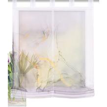 Home Wohnideen Schlaufenraffrollo Effektvoile Digitaldruck Marmosa Grau 140 x 100 cm