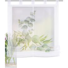 Home Wohnideen Schlaufenraffrollo Effektvoile Digitaldruck Salbari Grün 140 x 100 cm