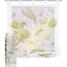 Home Wohnideen Schlaufenraffrollo Effektvoile Digitaldruck Spices Grün 140 x 100 cm