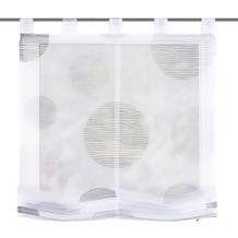 """Home Wohnideen Schlaufenraffrollo Voile Digitaldruck """"borden"""" Stein 140 x 100 cm"""
