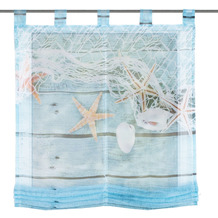 """Home Wohnideen Schlaufenraffrollo Voile Digitaldruck """"maritim"""" Blau 140 x 100 cm"""