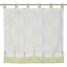 Home Wohnideen Schlaufenrollo Effektvoile Streifen Grün 140 x 100 cm