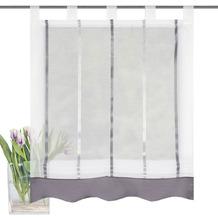 Home Wohnideen Schlaufenrollo Längsstreifen Grau transparent 140 x 100 cm
