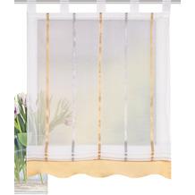 """Home Wohnideen Schlaufenrollo Längsstreifen """"kathy"""" Gelb 140 x 100 cm"""