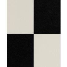 Hometrend FURLANA CV Vinyl Bodenbelag, Fliesenoptik Fliese, schwarz/weiss 200 cm breit