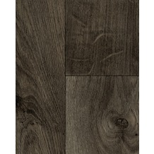 Hometrend ALEGRIA CV Vinyl Bodenbelag, Holzoptik Landhausdiele Eiche, dunkelgrau 200 cm breit