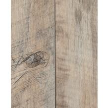Hometrend HAMBO CV Vinyl Bodenbelag, Holzoptik Landhausdiele Eiche, weiss 200 cm breit