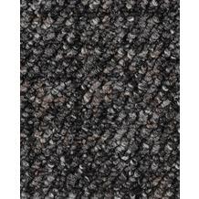 ilima Teppichboden Schlinge gemustert ANEMONE/REVUE grau/schwarz 400 cm breit