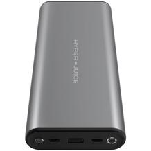 HYPER Juice 130W Dual USB-C Ladegerät + QC 3.0 USB-A, 27000mah, space grau, HJ307-GRAY