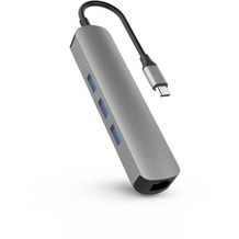 HYPER Drive Hub 6-in-1, Apple MacBook & USB-C Notebooks, space grau, HD233B-GRAY