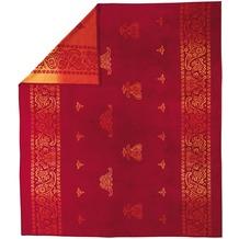 ibena Jacquard Bettüberwurf Indore rot 220 x 260 cm