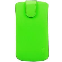 iCandy Echtledertasche FLASH für Samsung Galaxy S4, neongrün