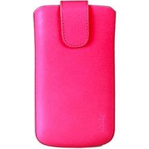 iCandy Echtledertasche FLASH für Samsung Galaxy S4, neonpink
