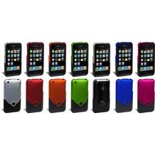 ifrogz Luxe Case, Hartschalenetui für iPhone 3G, Pink-Schwarz