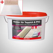 ilima Verlegeset für Teppichboden und Vinylboden - Dispersionskleber 5kg Kleber + Zahnspachtel