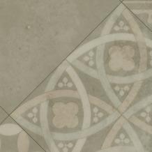 ilima Vinylboden PVC Fliesenoptik Retro diagonal beige grau 200 cm breit