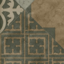 ilima Vinylboden PVC Fliesenoptik Retro diagonal grau beige 200 cm breit