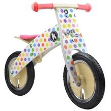 imagoarts kiddimoto® Wooden Laufrad Pastel Dotty