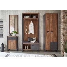 IMV Garderobenkombination Detroit II, braun und schwarz Garderobe