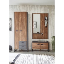 IMV Garderobenkombination Detroit III, braun und schwarz Garderobe