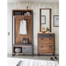 IMV Garderobenkombination Detroit IV, braun und schwarz Garderobe