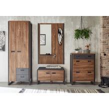 IMV Garderobenkombination Detroit V, braun und schwarz Garderobe