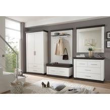 IMV Garderobenkombination Siena, weißbraun Garderobe 9PP2R5