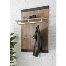 IMV Garderobenpaneel Brügge schwarz, kastanie 80 x 107 x 25 cm Garderobe