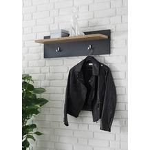 IMV Garderobenpaneel Brügge schwarz, kastanie 80 x 23 x 18 cm, Wandregal