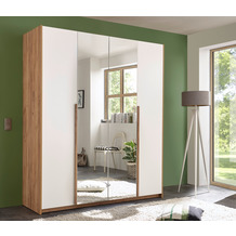 IMV Kleiderschrank Skye II, weißbraun mit Spiegel