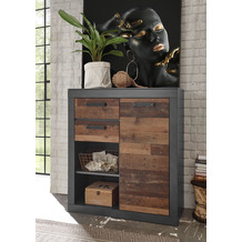 IMV Kommode Brooklyn, braun und schwarz Highboard
