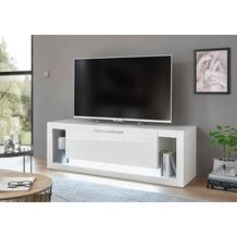 IMV Lowboard Meran weiß / weiß hochglanz 49 x 150 x 43 cm