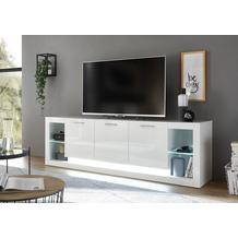 IMV Lowboard Meran weiß / weiß hochglanz 49 x 198 x 43 cm