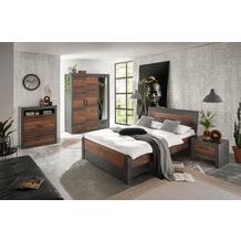 IMV Schlafzimmer Brooklyn Kombi B8 mit Kleiderschrank schwarz/braun