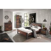 IMV Schlafzimmer Brooklyn Kombi S6 mit Kleiderschrank schwarz/braun